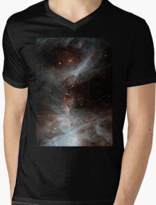 Black Galaxy Mens V-Neck T-Shirt