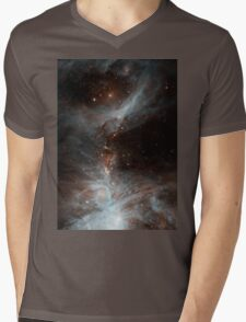 Black Galaxy Mens V-Neck T-Shirt