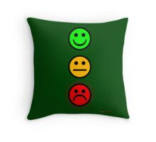 Smiley Traffic Lights - Green For Go Throw Pillow