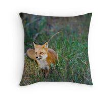 Fox in the Spotlight Throw Pillow