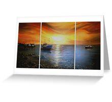Boating at Sunset Greeting Card