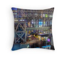 Night View from Kyoto Station Throw Pillow