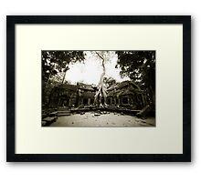 Temple at Angkor Framed Print