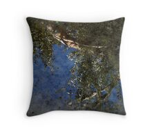 Puddle Over Concrete Throw Pillow