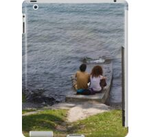 couple on the beach iPad Case/Skin