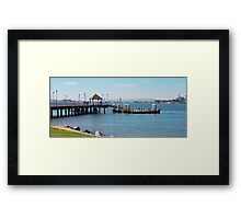Coronado Pier Panorama Framed Print