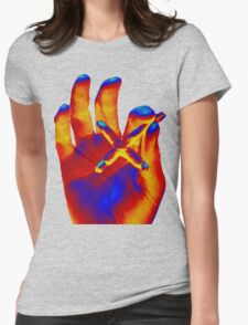 Cross Blunt Womens Fitted T-Shirt