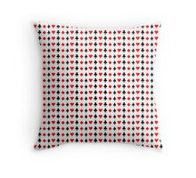 Horizontal Suits from Playing Cards Throw Pillow