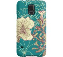 Seamless floral background with peonies Samsung Galaxy Case/Skin