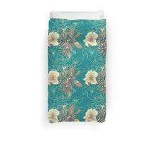 Seamless floral background with peonies Duvet Cover