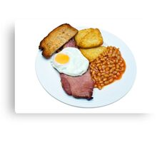 Gammon Egg and Beans Canvas Print
