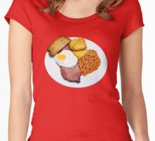 Gammon Egg and Beans Women's Fitted Scoop T-Shirt