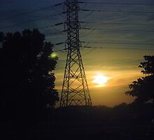 Pylon sunset by shakey