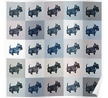 Fifty Shades of Grey Scottie Dogs (25 shades actually) Poster