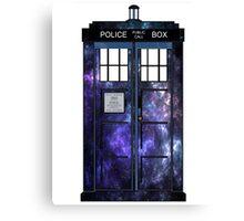 Doctor Who - TARDIS Galaxy Print Canvas Print