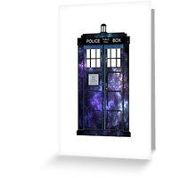 Doctor Who - TARDIS Galaxy Print Greeting Card