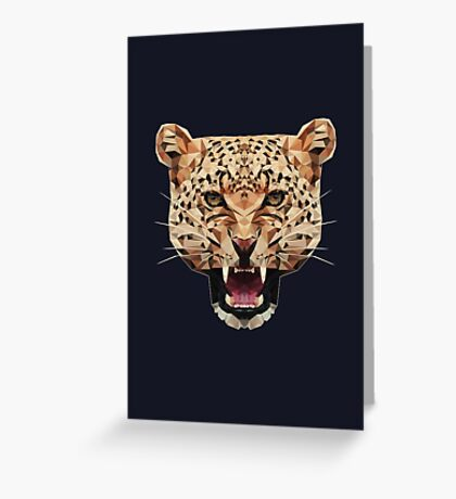 Geometric Leopard Greeting Card