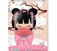 Dream Kokeshi Doll In Pink Cream And Peach Blends iPad Case/Skin
