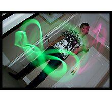 Glowstick Exposure Shot IIII Photographic Print