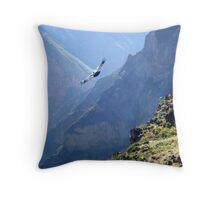 Cañon del colca, where condors fly, Peru Throw Pillow