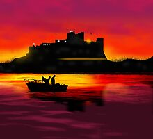 Bamburgh Castle At Night by Moonlake