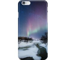 Aurora by the creek iPhone Case/Skin
