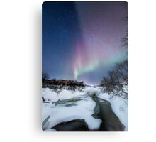 Aurora by the creek Metal Print