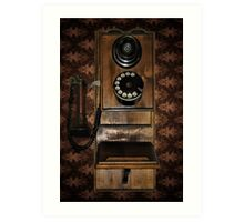 A CAPTURE OF MY OLD FASHION PHONE FROM GERMANY Art Print