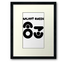 GALAXY QUEEN 83 Framed Print