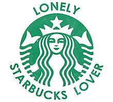 Lonely Starbucks Lover Photographic Print
