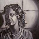 Greyscale Self Portrait by Xtianna