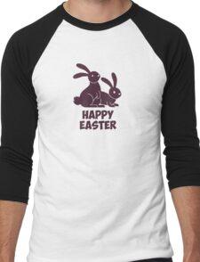 Happy Easter Bunnies Men's Baseball ¾ T-Shirt