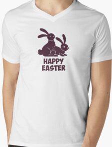 Happy Easter Bunnies Mens V-Neck T-Shirt