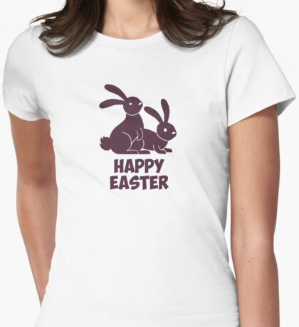 Happy Easter Bunnies Womens Fitted T-Shirt