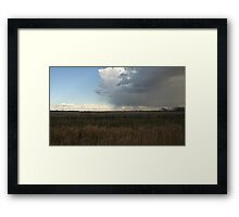 Edge Of The Storm Framed Print