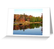 Backus Mill Trees Greeting Card