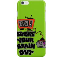 t.v. sucks your brain out mallowcolor iPhone Case/Skin