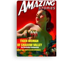 Amazing Stories - Classic Sci Fi Magazine Cover - Reproduction Canvas Print