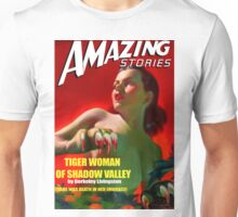 Amazing Stories - Classic Sci Fi Magazine Cover - Reproduction Unisex T-Shirt