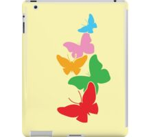5 cute rainbow butterflies flying up iPad Case/Skin