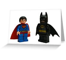 LEGO Superman & Batman Greeting Card