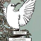 Chritmas Dove Card by Kelly Pierce