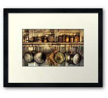 The old country kitchen Framed Print