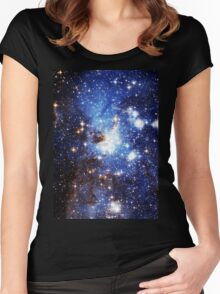 Blue Galaxy 3.0 Women's Fitted Scoop T-Shirt