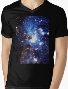 Blue Galaxy 3.0 Mens V-Neck T-Shirt