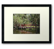 Red Bridge Framed Print