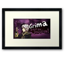 Grima Brings the Destruction! Framed Print