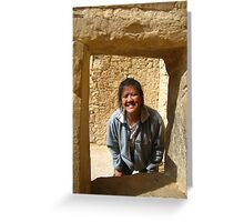 Laurie at Cliff Palace Greeting Card