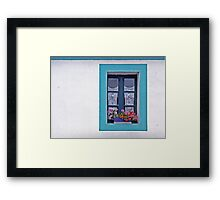 A Window in Brittany Framed Print