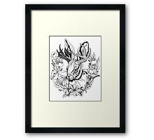 The Majestic Jackalope Framed Print